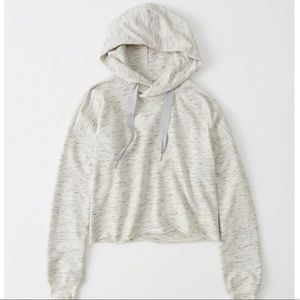 Abercrombie & Fitch Active Cropped Hoodie Grey